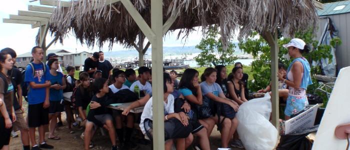 Teaching on Mokauea Island